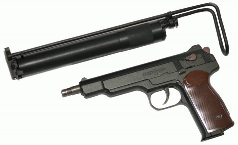 Art-Nr.: 10209, APS Stetschkin 6mm CO2 GBB Russische Legende