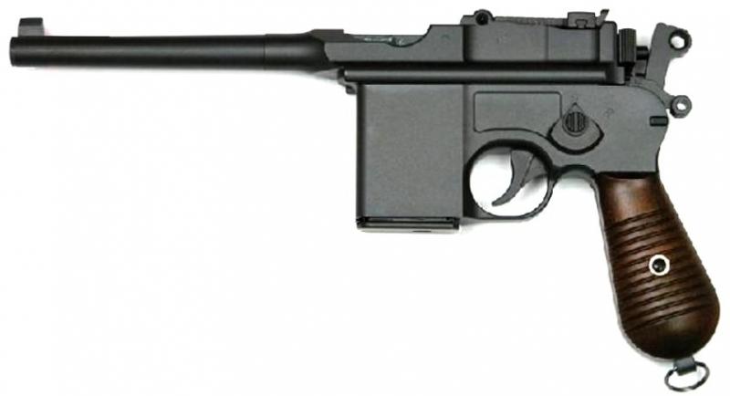 Art.: 10230, M712 (Mauser C96) 6mmBB Gas Airsoft Pistole