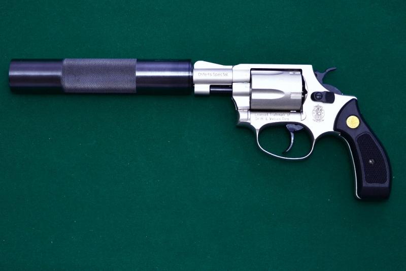 Art.: 20412, Schalldämpfer für Walther S&W Chiefs Special 9mm R.