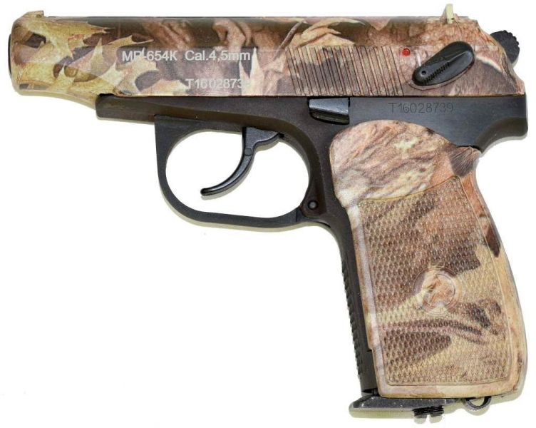 Art.: 10205-CAMOUFLAGE Makarov CO2 MP654K-CAMO Vollstahl Baikal