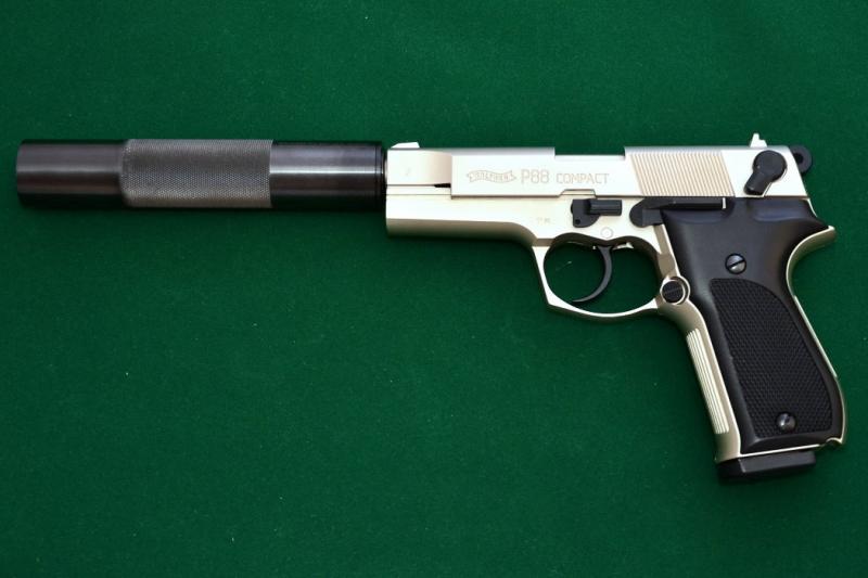 Art.: 20407, Schalldämpfer für Walther P88 Compact 9mm P.A.K.