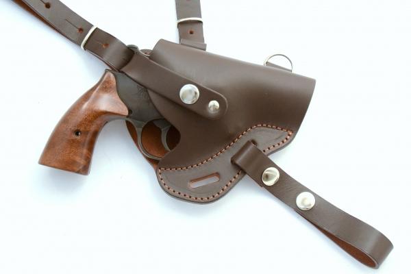 Schulterholster aus Leder für J-Rahmen braun