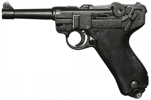 Pistol Luger P08 9mm Parabellum model gun