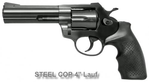 STEEL COP 4'' G Vollstahl Revolver 9mm R Knall