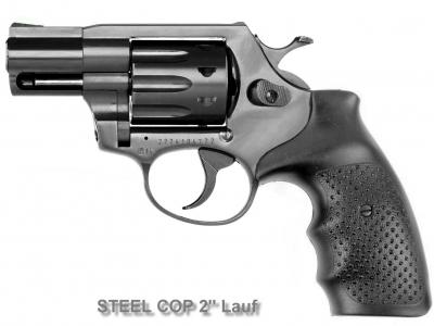 Lauf, STEEL COP 2'' Vollstahl Revolver 9mm R Knall