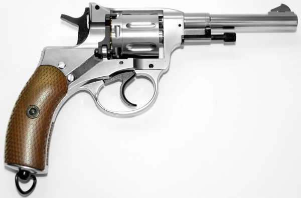Nagant M1895 Nickel Revolver 6mm CO2 Belgische Legende