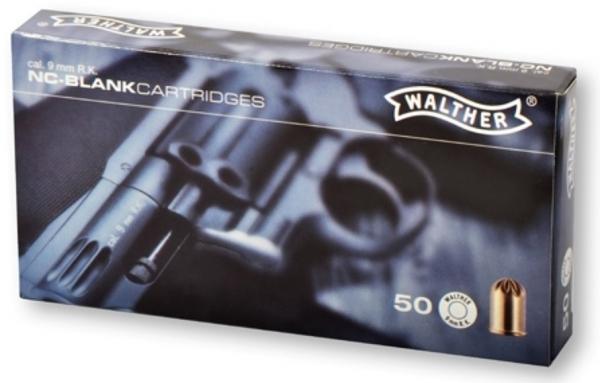 WALTHER KNALLPATRONEN, 9 mm R für Revolver