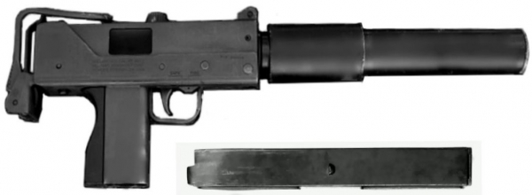 MP M11 Ingram model gun with Suppressor