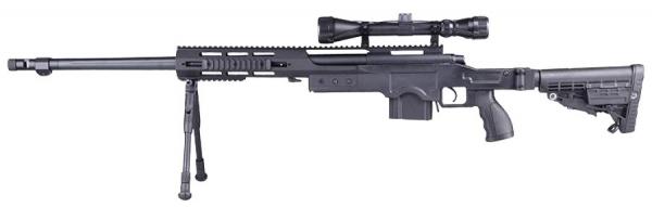T5005 CNC TAC Snipergewehr schwarz 6mm BB