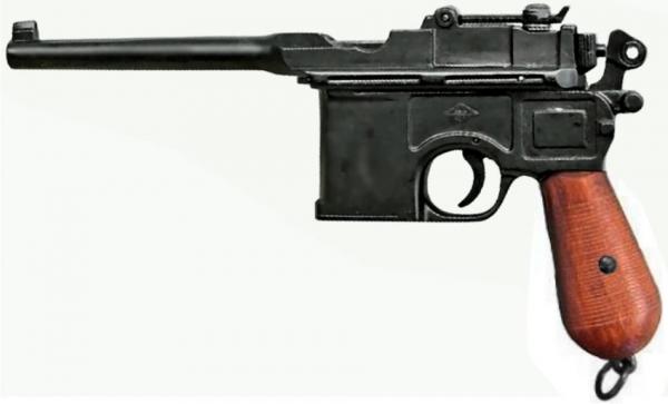 Pistole C96 Mauser Legende Modellwaffe Holz