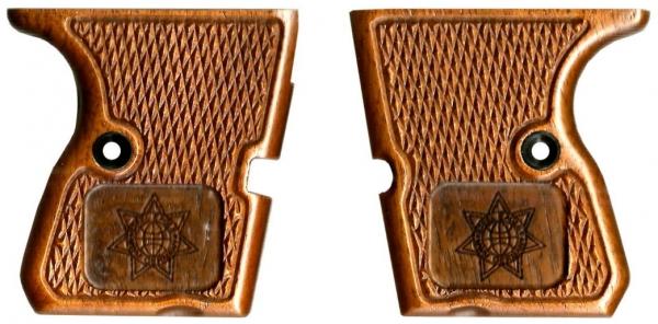 Edelholz Griffschalen mit Sternlogo für STEEL EAGLE