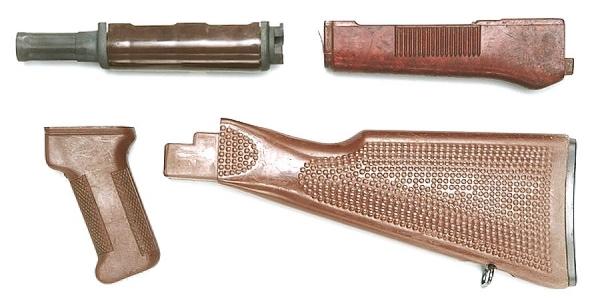 AK47 / AKM / AK74 Saiga Cugir Schaftsatz aus Plastik MPi DDR NVA