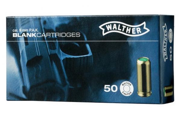 WALTHER KNALLPATRONEN, 9 mm P.A.K. für Pistolen