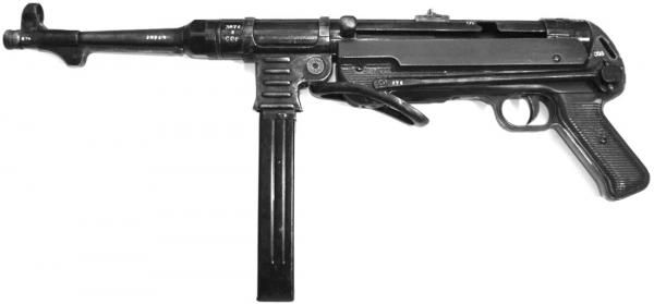 WH MP40 model gun OLD LOOK Battlefield