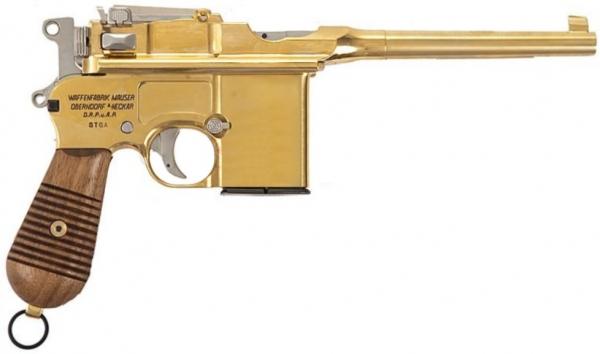 Mauser M712 Gold Vollmetall FireCaps Modellpistole