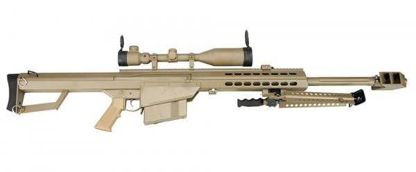 M82A1 CQB SNIPER TAN 6mm S-AEG mit Optik