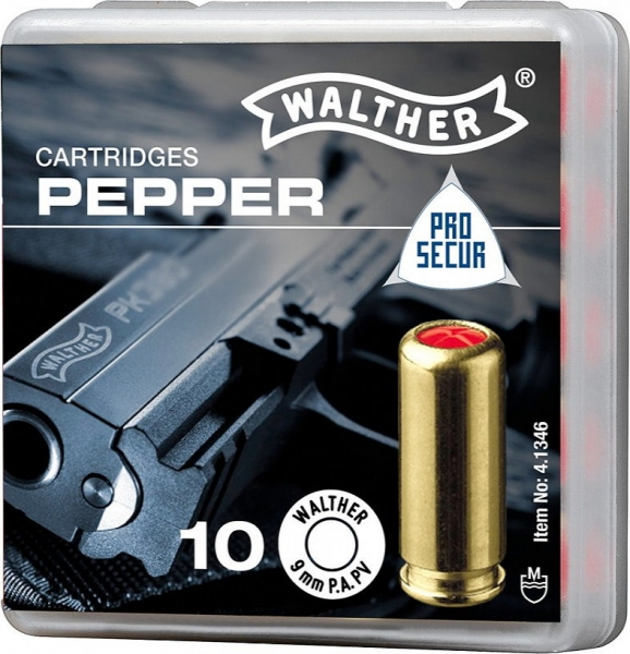 Walther PEPPER CARTRIDGES, 9 mm P.A.PV. for Pistols