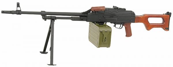 MG PKM mit Holz 6mm RUSSISCHE LEGENDE AEG